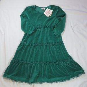 Hanna Andersson 130 8 Green Twirl Holiday Dress